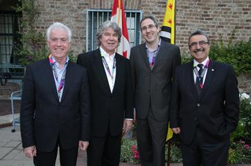 Ken McGillivray, Consul General of Canada David Fransen, Paul Salvini, and Feridun Hamdullahpur