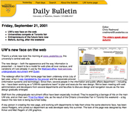A screenshot of a Daily Bulletin from 2001.