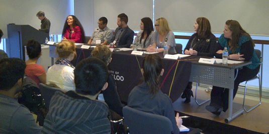 Panellists discuss health-related career options.