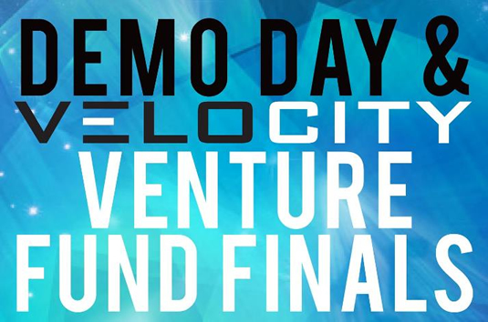 Demo Day and Velocity Venture Fund Finals logo.