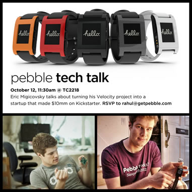 Pebble Event poster.