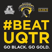 The #BeatUQTR logo for this weekend's Queen's Cup game.